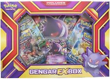 Gengar EX Collection Box Sealed POKEMON TCG Cards 4 Booster Packs Evolutions etc