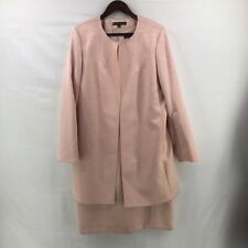 Preston & York Womens Dress Suit Pink Floral Lined Zip Stretch Hook And Eye 14
