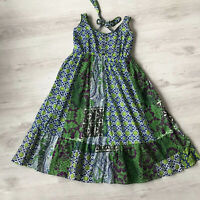 JOE BROWNS COTTON PATCHWORK DRESS UK 12 E1