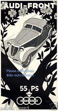 Audi Front Reklame von 1937 Autounion Werbung Klotz Kienast München ad Auto car