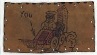 You AUTO Be ... Antique Automobile Car Vintage LEATHER Postcard