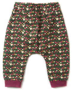 Little Green Radicals Organic Jelly Bean Joggers 0 3 6 9 woodland flowers lined