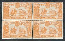 ESPAÑA 1905 - EDIFIL 266** - BLOQUE DE 4 - III CENTENARIO DE EL QUIJOTE - MNH