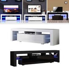 Rectangular LED TV Display Cabinet Unit Solid Wooden Furniture For Living Room