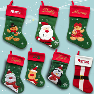 Luxury Personalised Christmas Stocking -  Embroidered or Printed - Xmas Sock