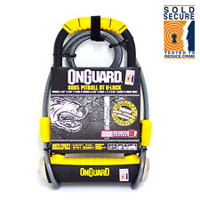 OnGuard Pitbull DT 8005 Bike D Lock with Security Cable - Sold Secure Gold