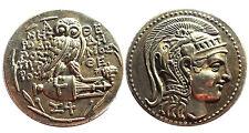 Medaille Griechen Athen Attika Tetradrachme Athena Eule Amphore ca. 135 v. Chr.
