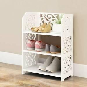 3 Tiers Shoe Rack Stand Storage Organiser Unit Shelf Home Holder white