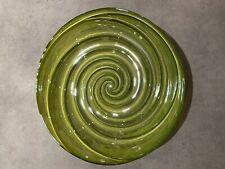 GREEN GLASS SWIRL GLASS POT POURRI DECORATIVE BOWL DISH ORNAMENT