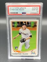 Christian Yelich 2013 Topps Update #US290 PSA 10 Gem Mint RC Marlins Brewers