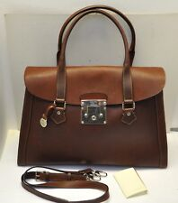 Rare Dooney & Bourke Large Alto Leather Satchel Bag Made in ITALY
