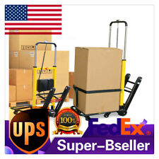 Stair Climbing Electric Hand Truck Folding 6 Wheels Cart Dolly 440lb Maxload