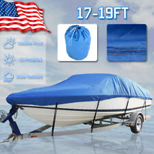 "17-19 Ft 600D Heavy Duty Trailerable Fish Ski Boat Cover V-Hull 95"" Waterproof"