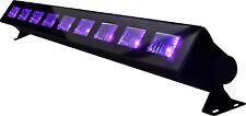 BARRE A LED UV 9 X 1W  LAMPE UV  JEU DE LUMIERE LED ultraviolet lumière noire