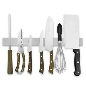 """16"""" Magnetic Knife Holder Bar Strip for Wall Home Organizer Stainless Steel"""