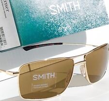 NEW* SMITH OPTICS TURNER Aviator Squared GOLD w Brown Lens Sunglass