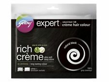 5 X Pack Godrej Expert Herbal Rich Creme Hair Color No Ammonia natural black
