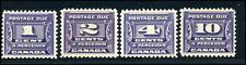 Canada #J11-J14 mint F-VF/VF OG LH/H 1933-1934 Third Postage Due Issue Set