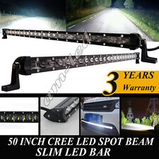 50 Inch Super slim CREE Led Light Bar Spot for Ford Jeep Offroad Truck SUV 4WD
