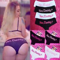 Women Letter Print Lingerie G-string Briefs Thongs Underwear Panties Knickers