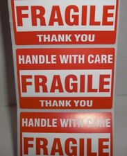 Fragile Handle With Care Stickers 2x3 Pack Of 20 Twenty Self Stick Labels