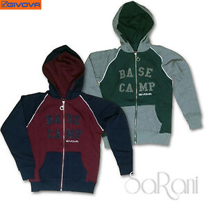 Hooded Sweatshirt GIVOVA Jersey Brushed Casual Zipper Child 3-16 Ages Sarani