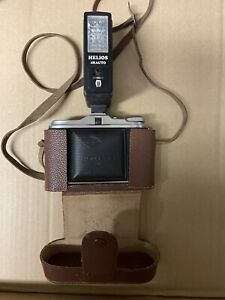 VINTAGE AGFA JSOLETTE CAMERA WITH LEATHER CASE AND HELIOS 48auto Flash