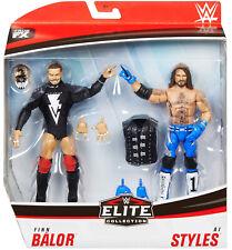 WWE FINN BALOR AJ STYLES MATTEL Elite DOUBLE PACK Series 1 Wrestling Figure NXT