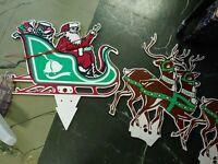 Santa claus and reindeer, vintage