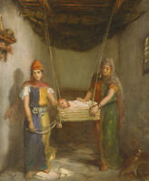 """stunning oil painting""""Scene in the Jewish Quarter of Constantine """" NO6075"""