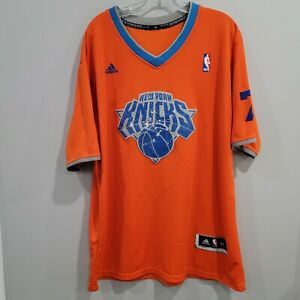 Adidas New York Knicks Carmelo Anthony 7 Christmas Sleeve Jersey Mens XL Sewn