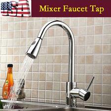 16 Inch Kitchen Sink Faucet Spray Swivel Spout Dispenser Single Handle USA EW
