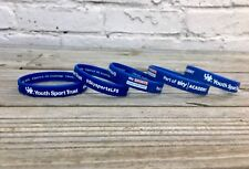 5 Sky Sports Silicone Wristbands, Blue