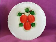 "Macbeth Evens Monax - Petalware With Apples - Rare 11"" Chop Plate"