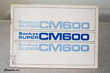 SANKYO SUPER CM600 MODE D'EMPLOI INSTRUCTION MANUAL