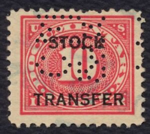 #RD5 10c Stock Transfer, Used [12] **ANY 5=FREE SHIPPING**