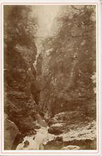 AD Braun, Suisse, Le 2e Pont de la Via-Mala, ca.1870, vintage albumen print Vint