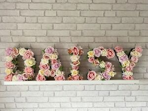 Floral Letters/Initials/Name, Artificial Flower Letter/Name, Nursery/Wall Decor