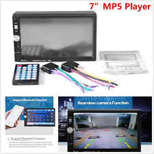 """Double 2DIN Car MP5 MP3 Player Bluetooth With 7"""" Touch Screen Stereo Radio HD"""