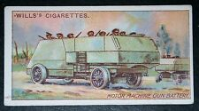 Canadian Army  Motor Maxim Machine Gun Battery   World War 1    Vintage Card