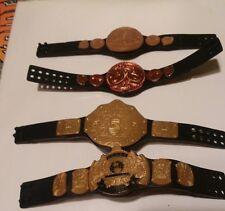 WWE Mattel Lot of 4 Dull Glossy Figure Championship Belts Lot