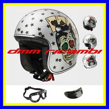 Casco Ls2 Jet Of583 Bobber Tattoo Argento L fibre Composite