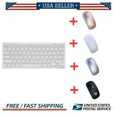 Wireless Bluetooth Silent Slim Keyboard Mouse Set for PC iOS iPads Macs Tablet