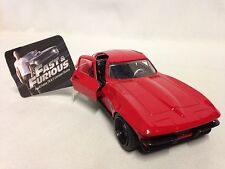 FAST FURIOUS 8 LETTY'S 1966 CHEVY CORVETTE Diecast 1:32 PULL BACK Jada Toy RD