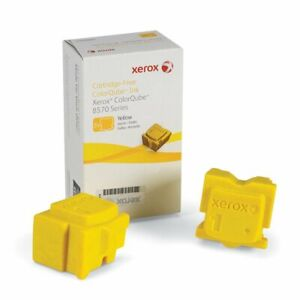 Genuine Original Xerox 8570 8580 Solid Inks Yellow 2pk (4400 pages) 108R00933