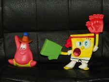 2 McDONALD'S Happy Meals Toys SPONGEBOB Square Pants Sports Exercise Cake Topper