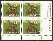 Canada 1156 Porcupine Lower Right plate block Ashton-Potter Slater Mnh *