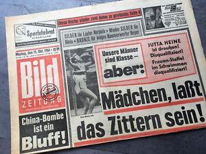 BILD Zeitung 19.10.1964 Bildzeitung 19.10.1964 Oktober Geschenk Geburtstag