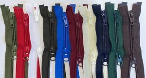 "YKK 2WAY 91cm / 36"" Nylon Coil Zip, Open End, No.5, Choice Of 14 Colours"