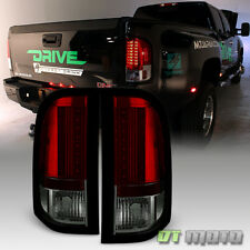 2007-2013 Chevy Silverado 1500 2500HD 3500HD Red Smoke Lumileds LED Tail Lights